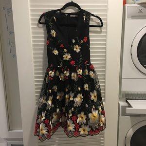 Alice + Olivia embroidered floral dress